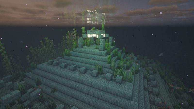 An ocean monument in Minecraft (Image via Minecraft)