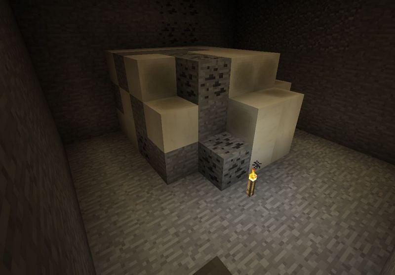 An Overworld fossil (Image via Minecraft Wiki)