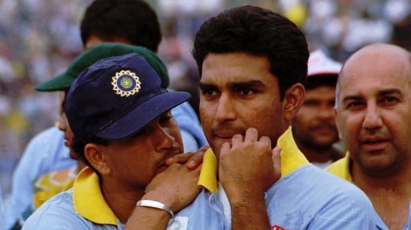 Sachin Tendulkar (left) and Sanjay Manjrekar
