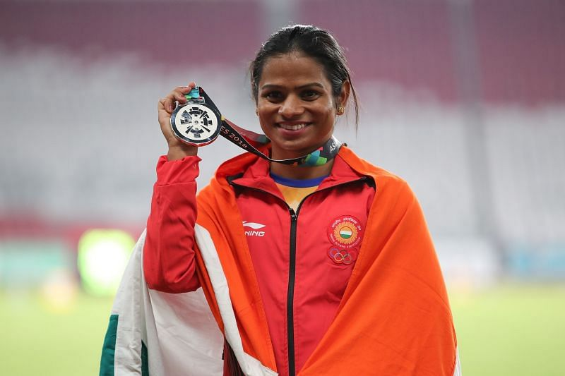 Dutee Chand at the 2018 Asian Games