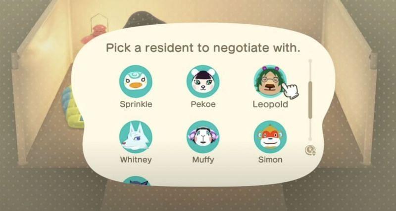 Desterrar a los aldeanos en Animal Crossing: New Horizons usando amiibo (Imagen a través del alcalde Morey)