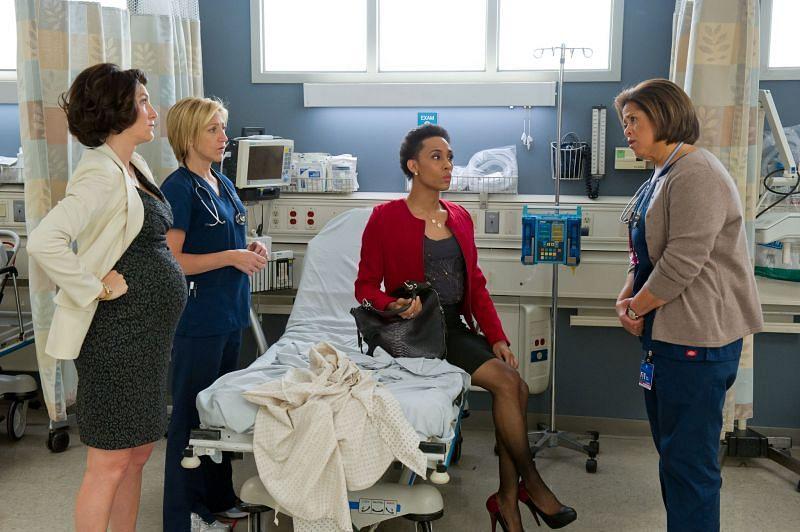 MJ Rodriguez in Nurse Jackie. (Image via: Showtime)