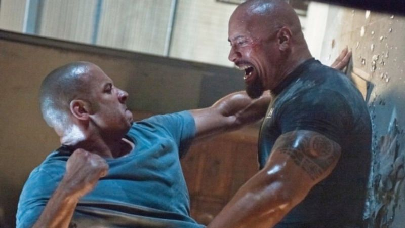 Vin Diesel and Dwayne Johnson in Fast Five. (Image via: Universal Pictures)