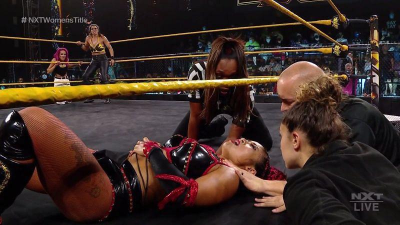 Update on Xia Li following injury scare during NXT Women's Championship match