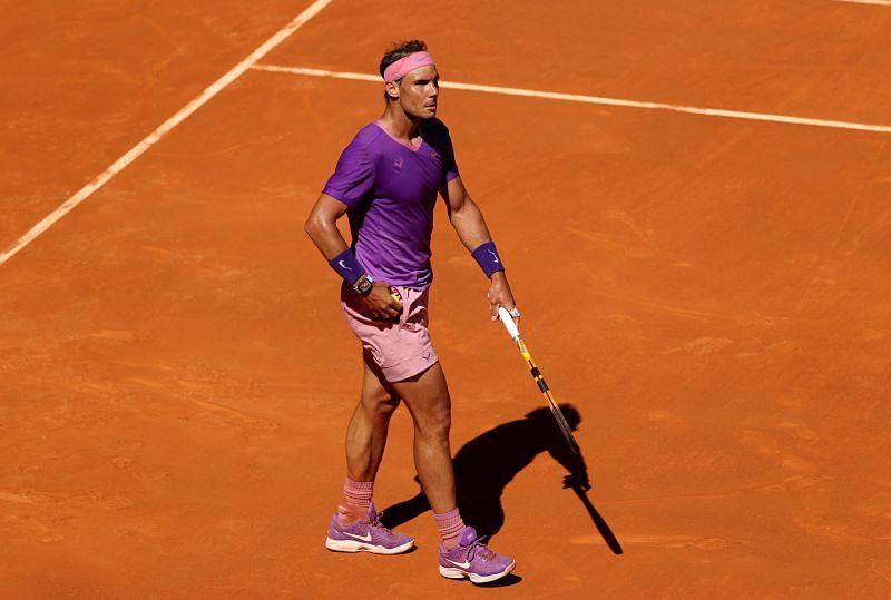 Rafael Nadal at the 2021 Maddrid Open