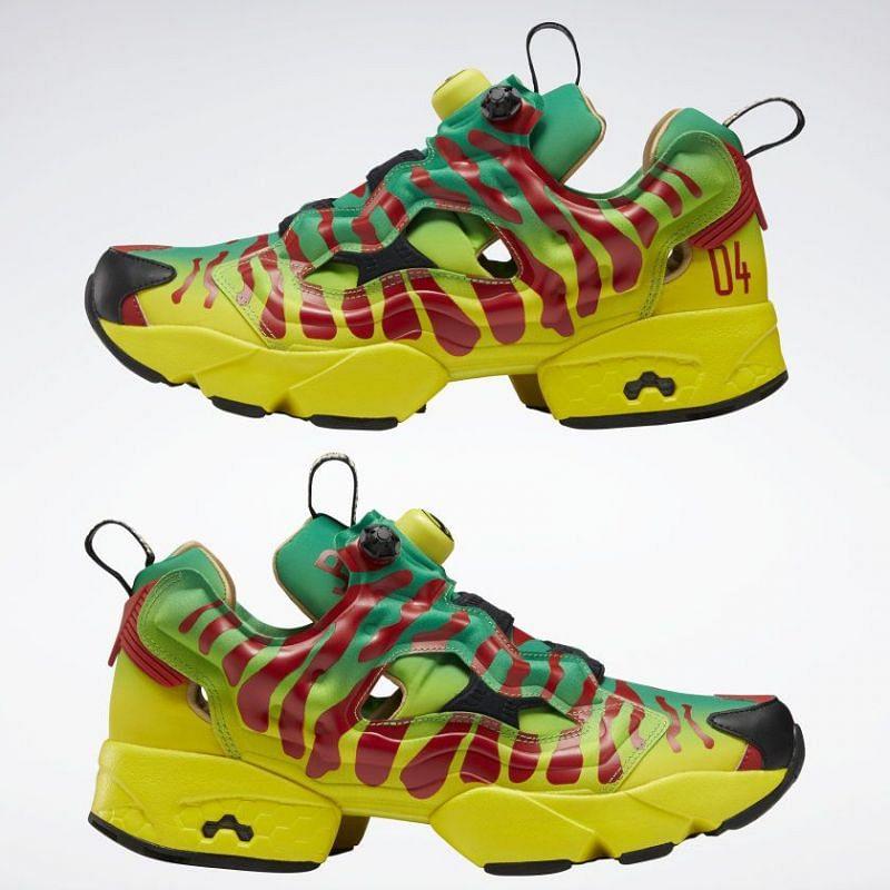 Jurassic Park Instapump Fury OG Shoes (Image via Reebok)