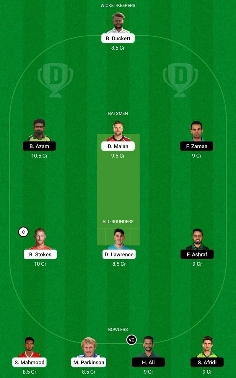 ENG vs PAK 1st ODI Dream11 Tips