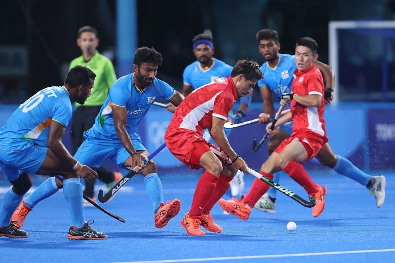 India in their last group match against Japan
