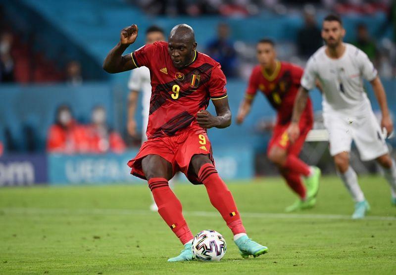 Lukaku in action for Belgium