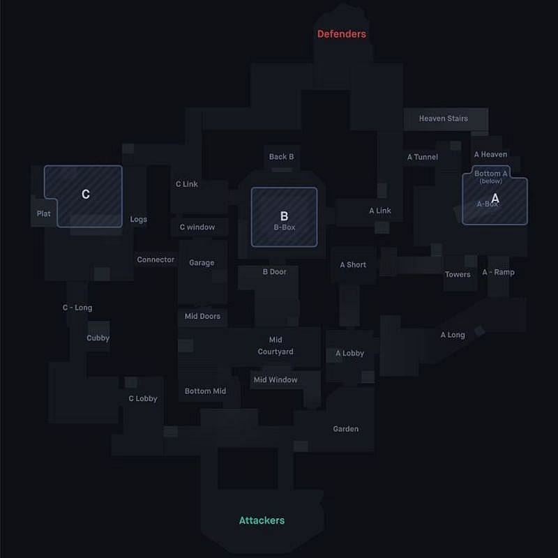 Haven map callouts (Screengrab from Blitz.gg)
