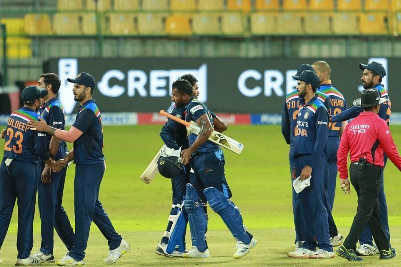 Sri Lanka beat India by four wickets in the 2nd T20I. (Pic: Sri Lanka Cricket)