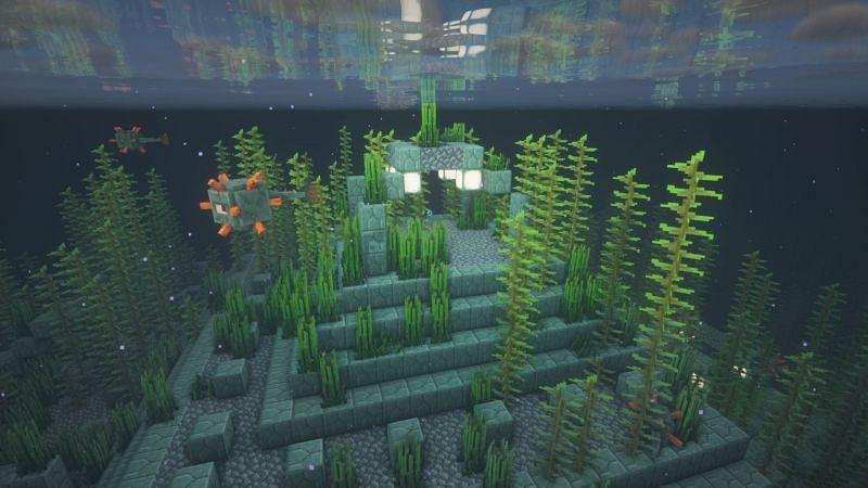 An ocean monument (Image via Minecraft)