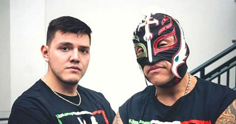 Dominik and Rey Mysterio.