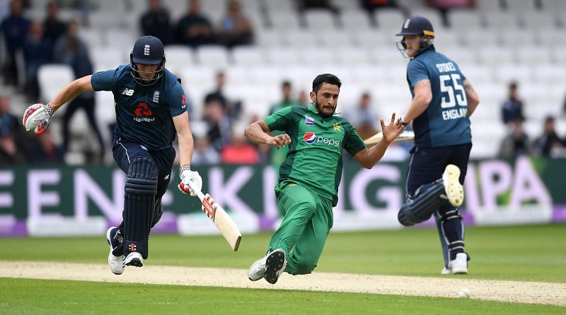 Hasan Ali picked up two wickets in his only T20I match at Old Trafford