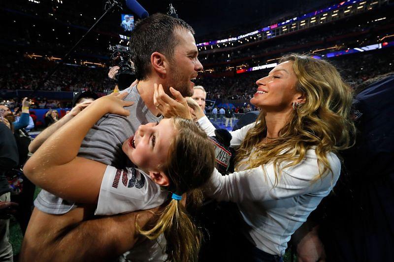 <a href='https://www.sportskeeda.com/player/tom-brady' target='_blank' rel='noopener noreferrer'>Tom Brady</a> and Gisele - Super Bowl LIII - New England Patriots v Los Angeles Rams