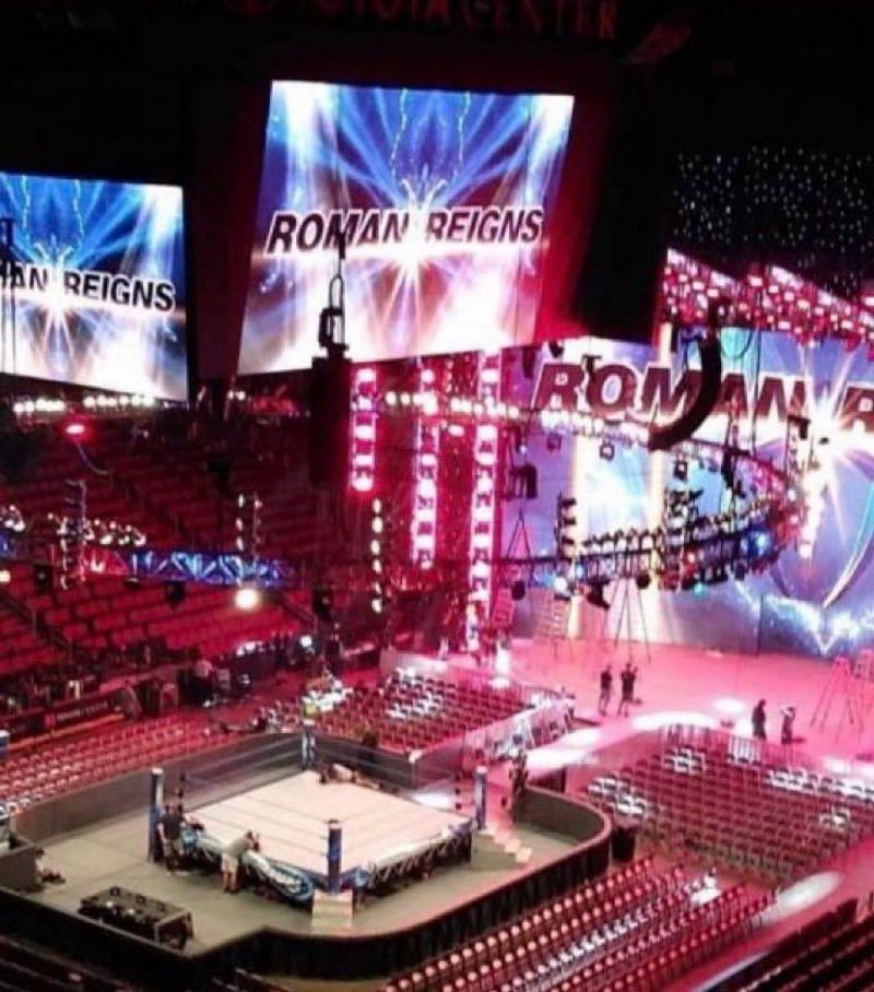 First look at the new WWE SmackDown set.