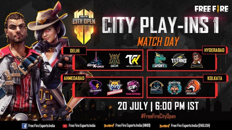 Free Fire City Open Play Ins 1