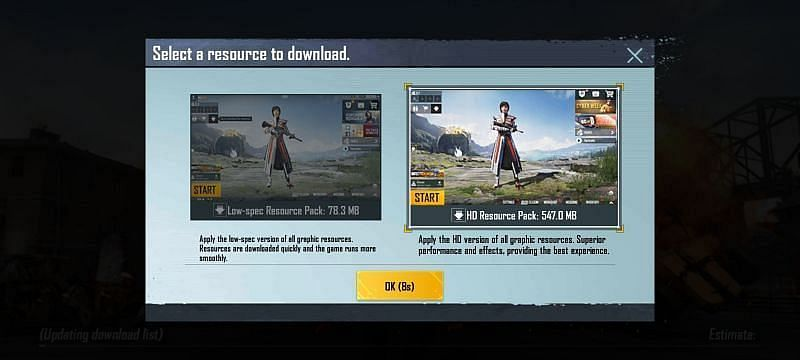 Resource packs available
