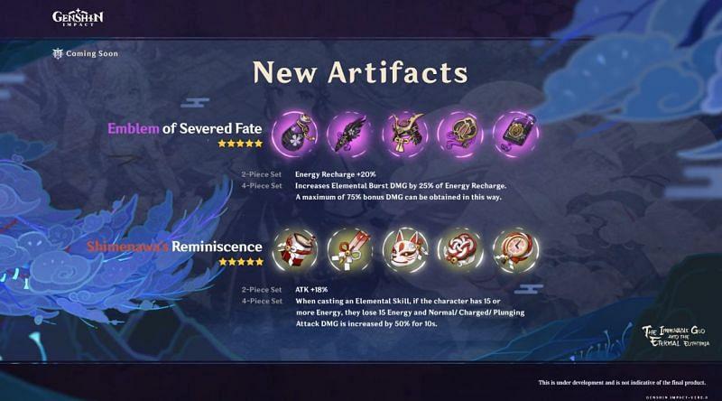 2 new artifact sets in Genshin Impact V2.0 (Image via Mihoyo)