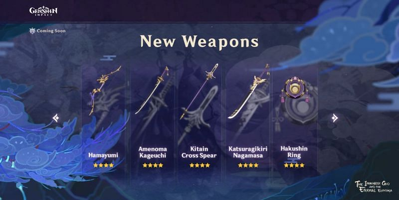 Genshin Impact 2.0: New craftable 4-star weapons, and suitable characters listed - Sportskeeda