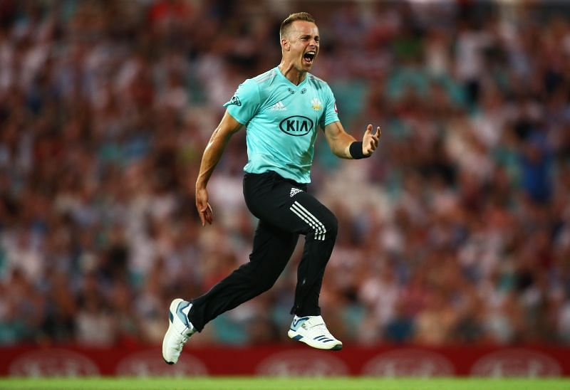 Tom Curran took a hat-trick for Surrey at Kennington Oval in 2019