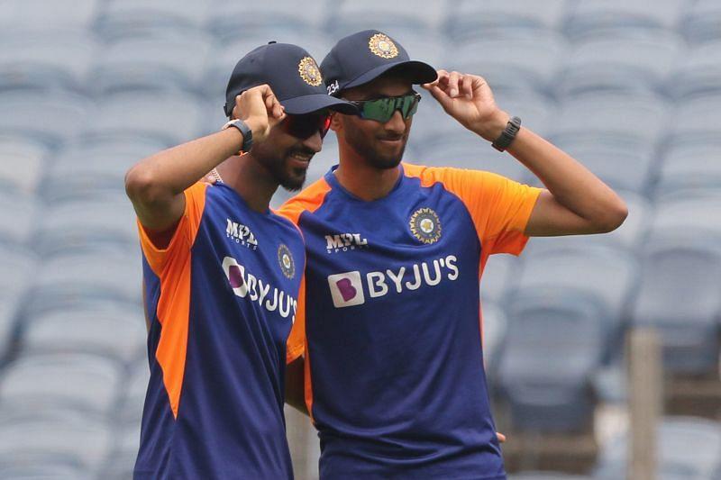 Indian cricketers Krunal Pandya and Prasidh Krishna