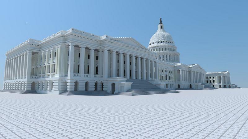 Quoi qu'il en soit, construire quelque chose d'une grande capacité est un autre moyen d'intégrer le réalisme dans une ville Minecraft (Image via Reddit)