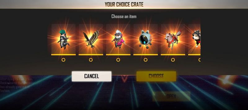 There are several pets up for grabs(Image via Free Fire)