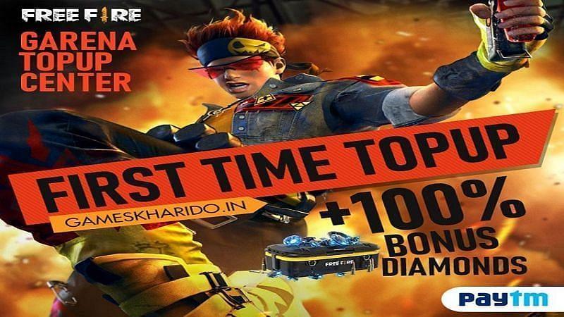 Games Kharido वेबसाइट खिलाड़ियों को पहली बार टॉप-अप करने पर 100% बोनस प्रदान करती है