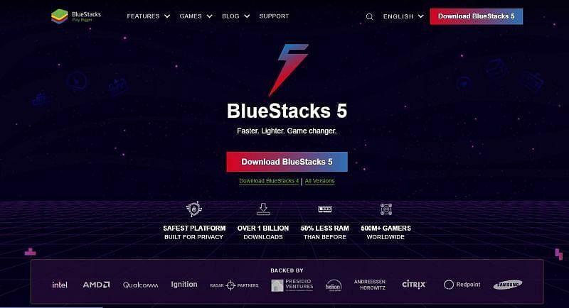 BlueStacks landing page