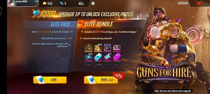 Elite Pass Season 38: Guns of Hire (Image via Free Fire App)