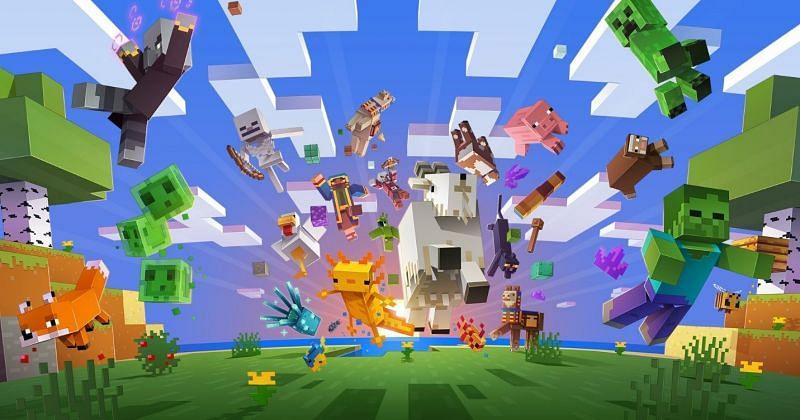Minecraft Caves and Cliffs poster (Image via Mojang)
