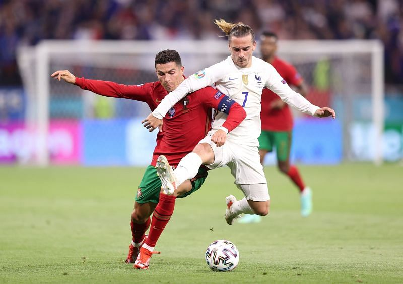 Griezmann in action for France