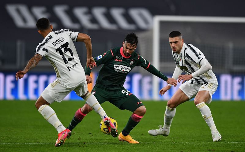 Merih Demiral in action for Juventus