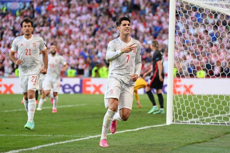 Alvaro Morata seems to have found his mojo back at Euro 2020