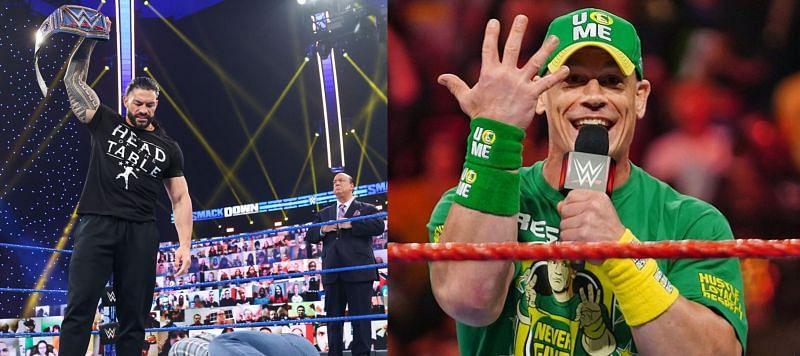 यूनिवर्सल चैंपियन रोमन रेंस और WWE दिग्गज जॉन सीना