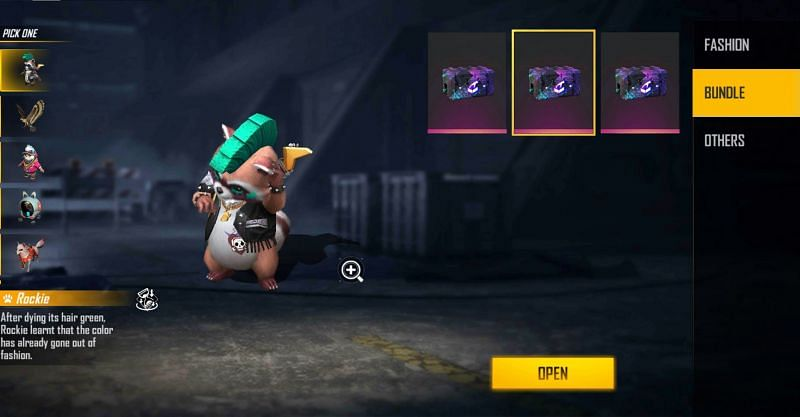 Players can select the pet of their choice (Image via Free Fire)