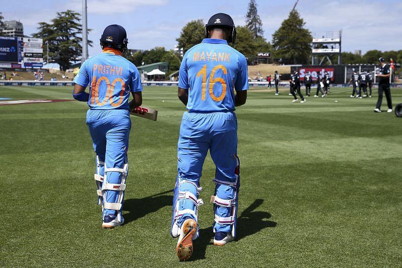 Indian cricketers Mayank Agarwal and Prithvi Shaw
