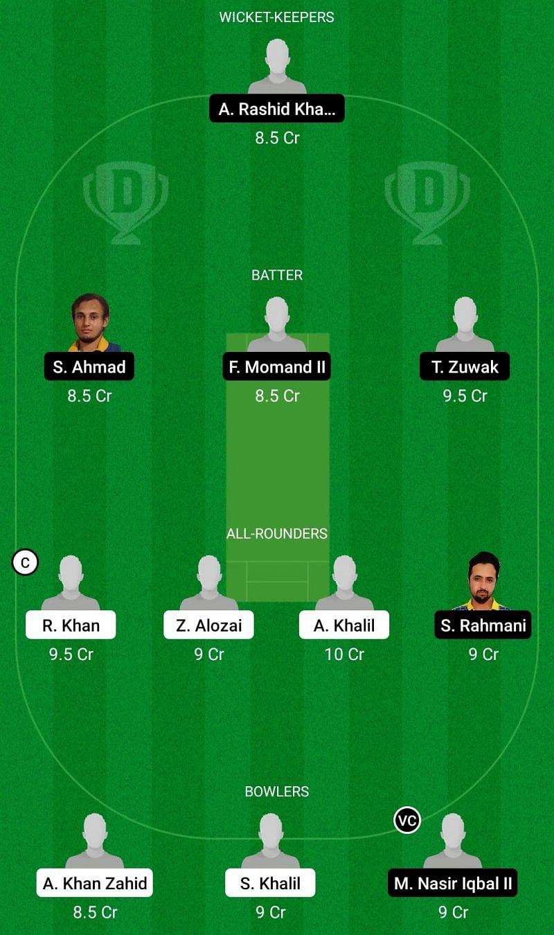 ALZ vs HUD ECS Dream11 Team 1