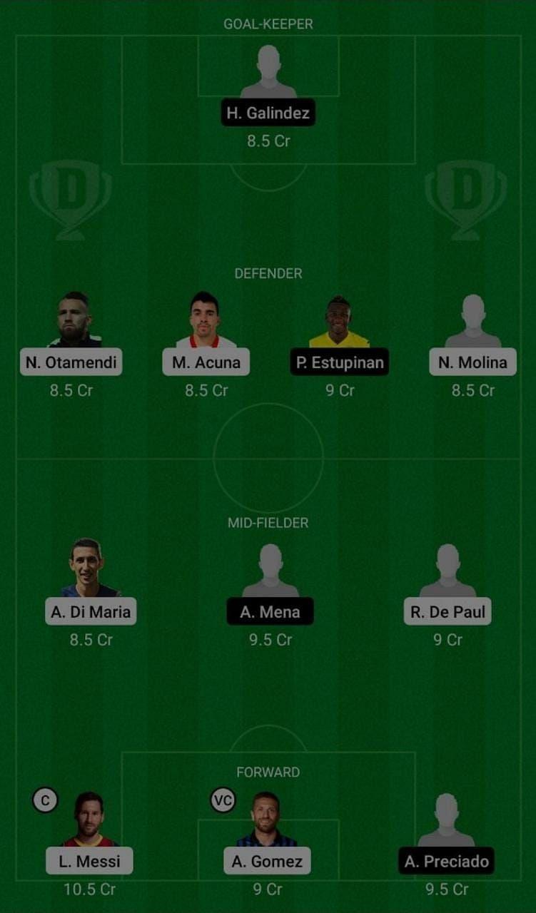 Argentina (ARG) vs Ecuador (ECU) Dream11 Fantasy Suggestions