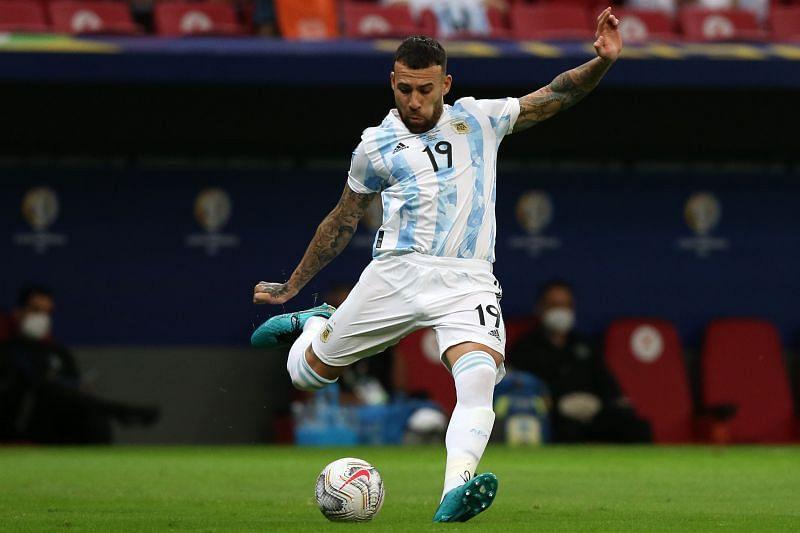 Otamendi in action for Argentina