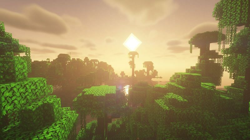Shaders can now be used in version 1.17 (Image via Minecraft)