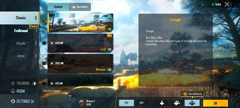 PUBG Mobile - Modos de jogo (imagem via PUBG Mobile)