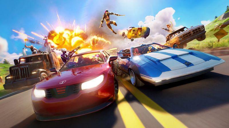 Fortnite Chapter 2 - Season 7 might bring Ferrari sports cars to the island (Image via Epic Games)