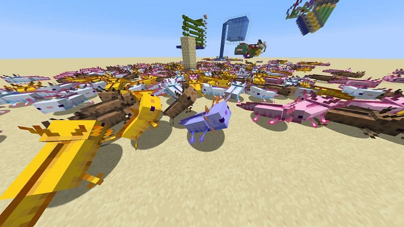 Axolotls are always passive towards the player (Image via u/Lemurien_ on Reddit)