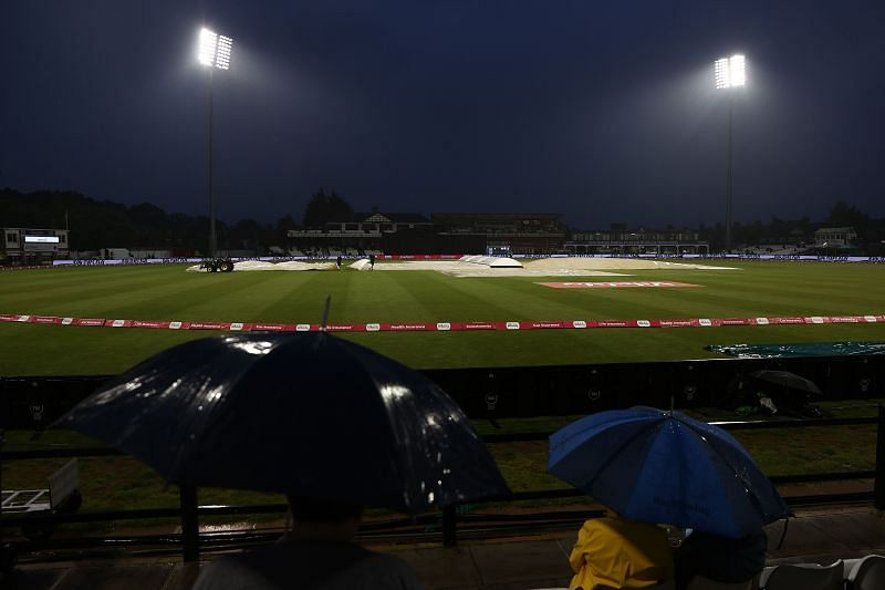England Women won the first match by 18 runs after the D/L method was enforced