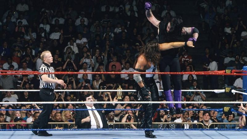 The Undertaker defeated Kevin Nash's Diesel character to win his fifth WrestleMania match