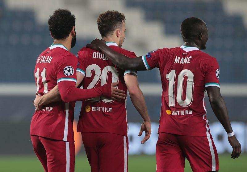 (From L to R) Mohamed Salah, Diogo Jota, Sadio Mane