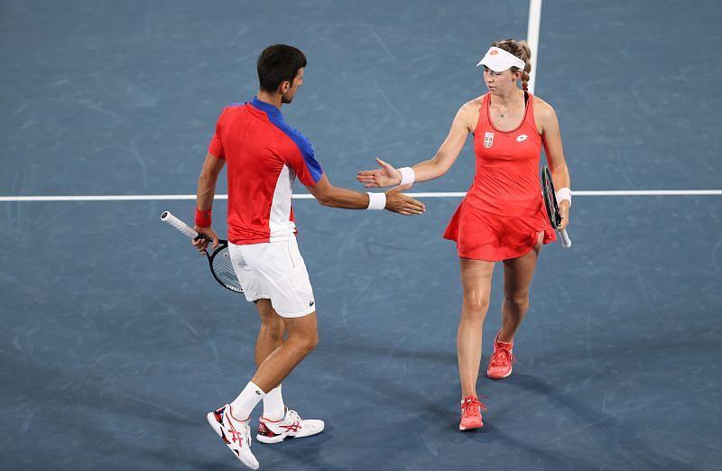 Novak Djokovic with Nina Stojanovic