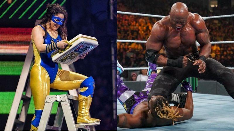 विमेंस MITB विजेता निकी क्रॉस, WWE चैंपियन बॉबी लैश्ले और कोफी किंग्सटन